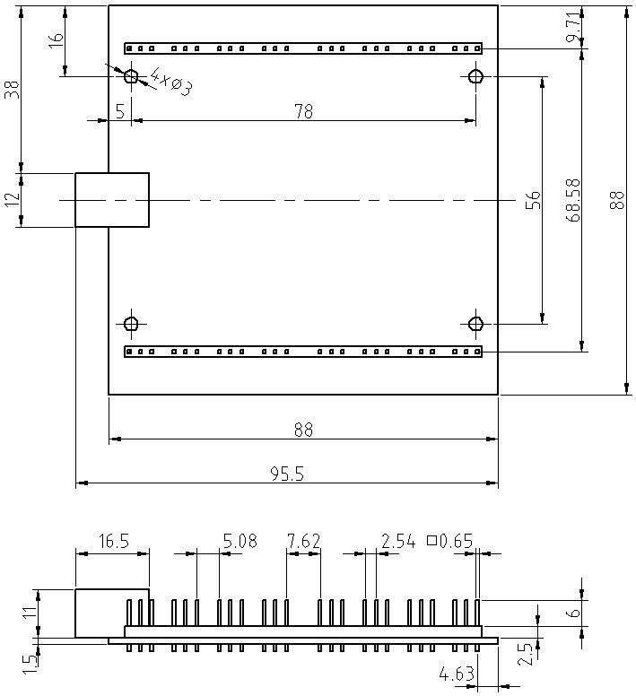 Переходник USB — UART (16 портов, скорость до 12 Мбод). 1USB-16UART
