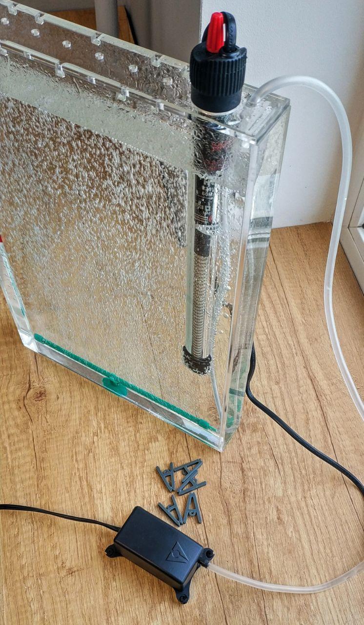 Вертикальная емкость, ванна объемом 2,5 литра для травления печатных плат. Аналог Kinsten ET20.
