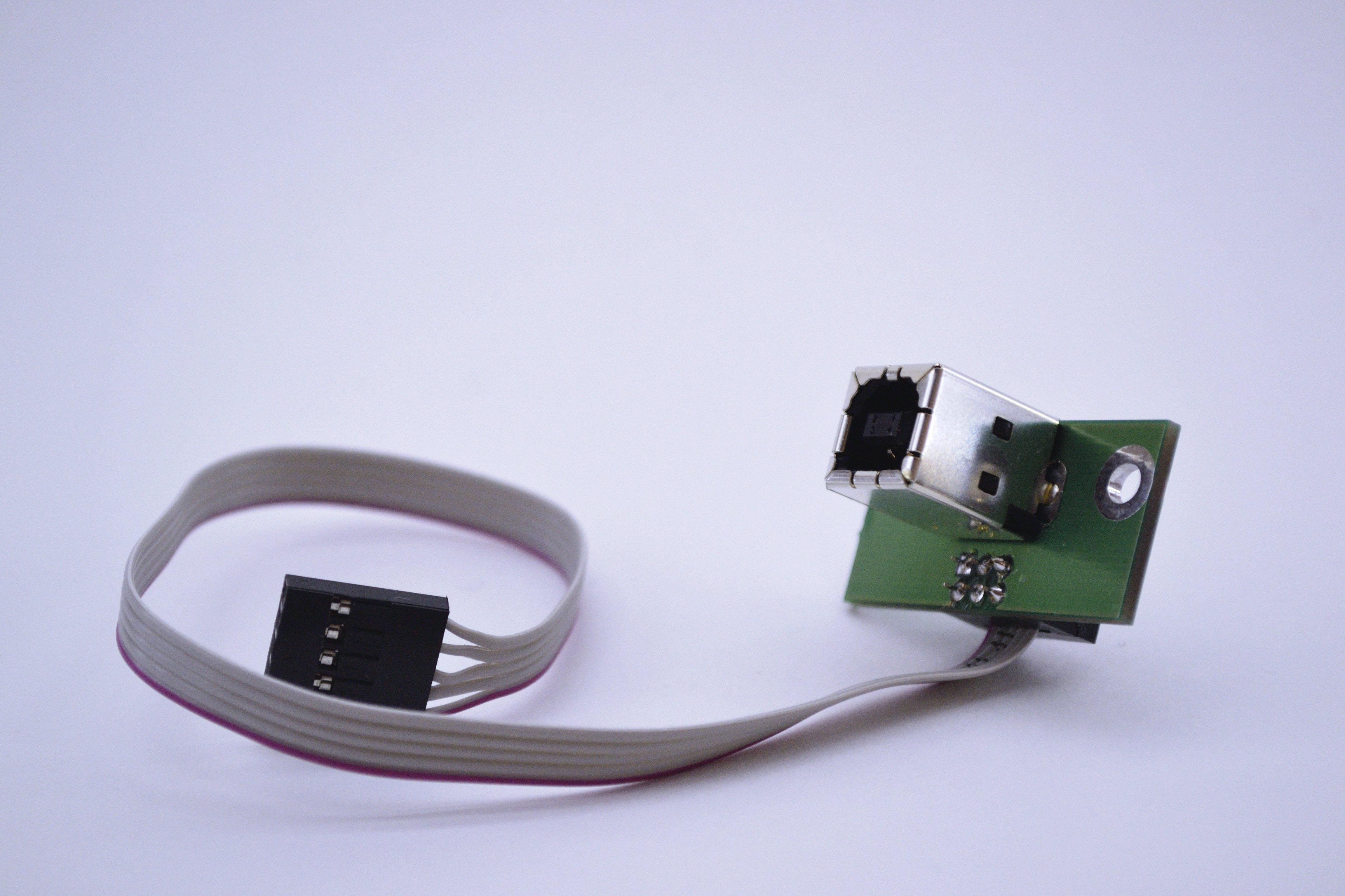 Разъем гнездо USB типа B для крепления на панель или корпус
